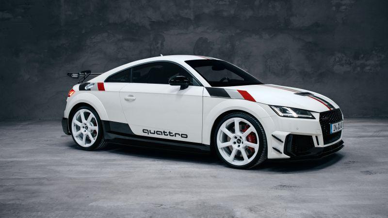 Audi TT RS Coupé 40 Jahre quattro, Limited edition, 2020, 5K, Wallpaper