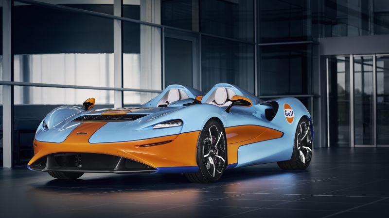 McLaren Elva, Gulf Theme, MSO, 2021, 5K, 8K, Wallpaper