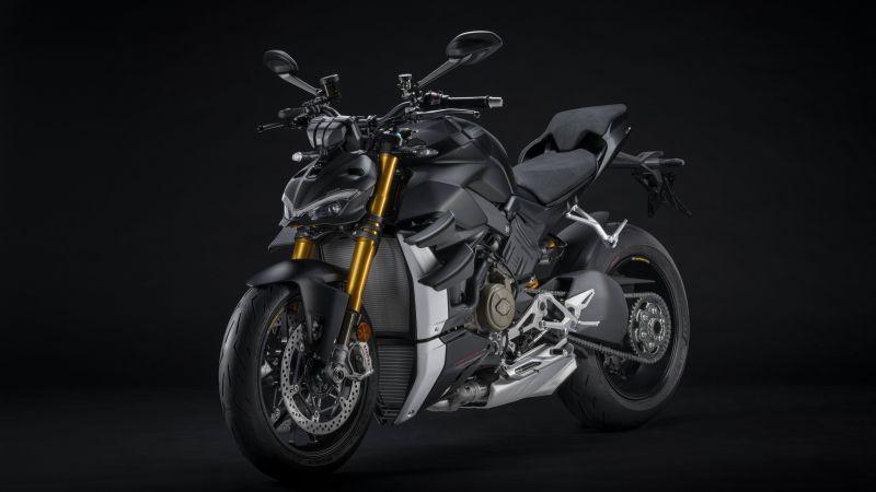 Ducati Streetfighter V4, Dark Stealth, Dark background, 2021, 5K, 8K, Wallpaper