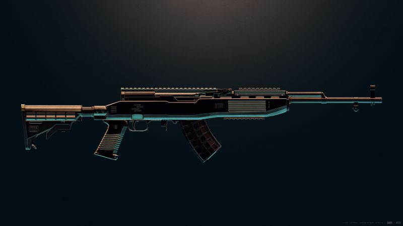 SKS, PUBG MOBILE, DMR, Designated Marksman Rifle, PlayerUnknown's Battlegrounds, Wallpaper