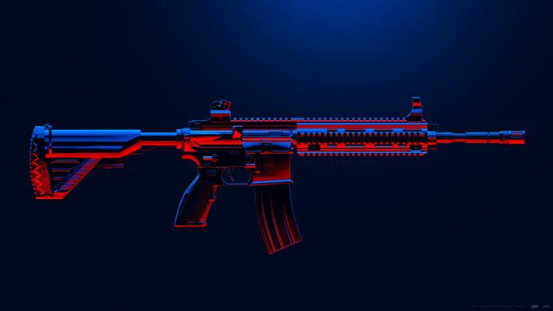 M416, PUBG MOBILE, Assault rifle, PlayerUnknown's Battlegrounds, Wallpaper