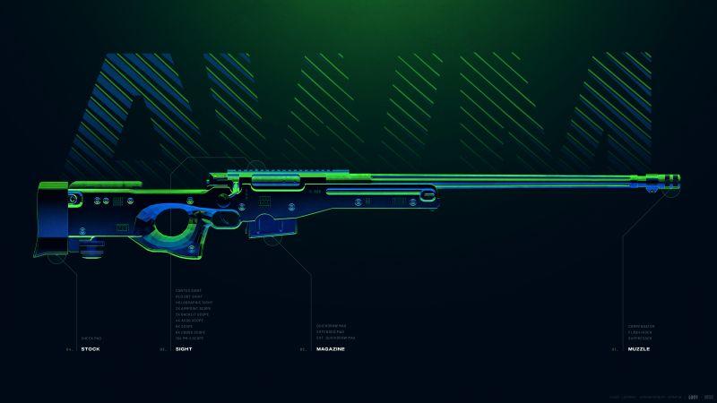 AWM, Sniper rifle, PUBG MOBILE, PlayerUnknown's Battlegrounds, Wallpaper