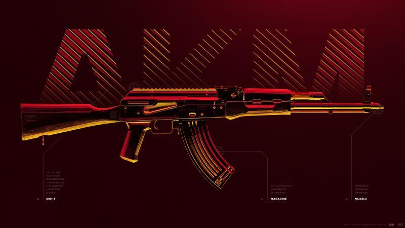 AKM, Assault rifle, PUBG MOBILE, PlayerUnknown's Battlegrounds, Wallpaper