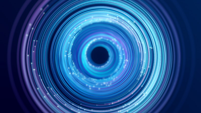 Spiral, Circles, Blue, Experiment, Render, Wallpaper