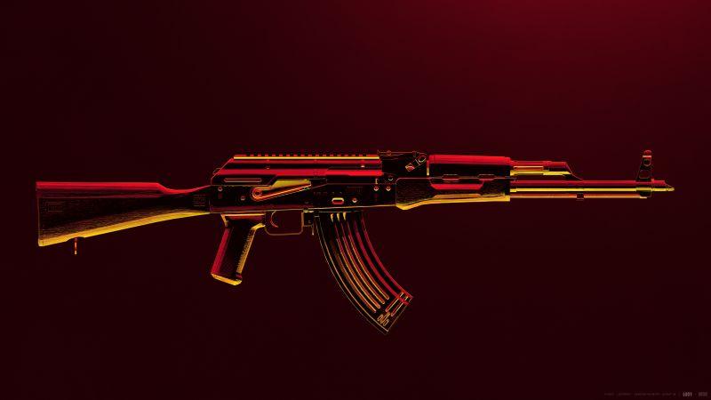 AKM, PUBG MOBILE, Assault rifle, PlayerUnknown's Battlegrounds, Wallpaper