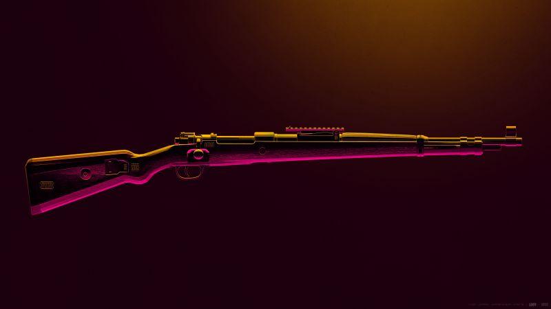 Kar98, PUBG MOBILE, Sniper rifle, PlayerUnknown's Battlegrounds, Wallpaper