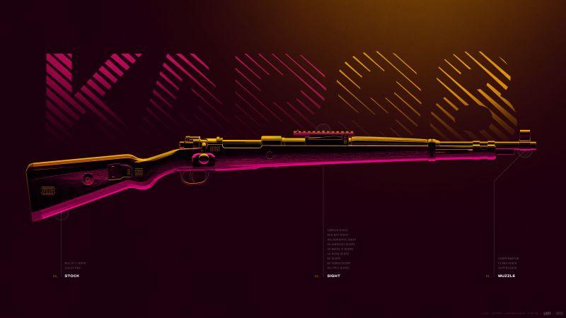 Kar98, Sniper rifle, PUBG MOBILE, PlayerUnknown's Battlegrounds, Wallpaper