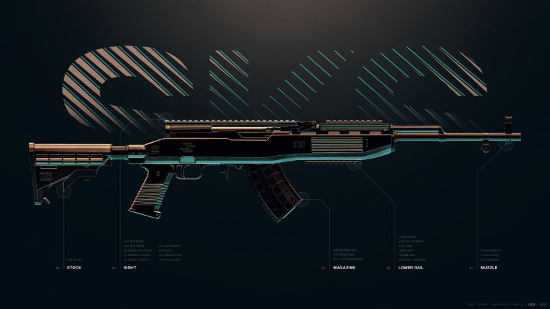 SKS, DMR, Designated Marksman Rifle, PUBG MOBILE, PlayerUnknown's Battlegrounds, Wallpaper