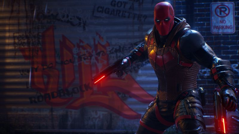 Red Hood, Gotham Knights, PlayStation 5, PlayStation 4, Xbox Series X/S, Xbox One, 2021 Games, PC Games, Wallpaper