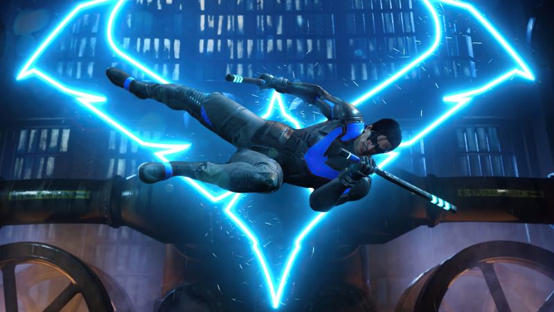 Nightwing, Gotham Knights, PlayStation 5, PlayStation 4, Xbox Series X/S, Xbox One, 2021 Games, PC Games, Wallpaper