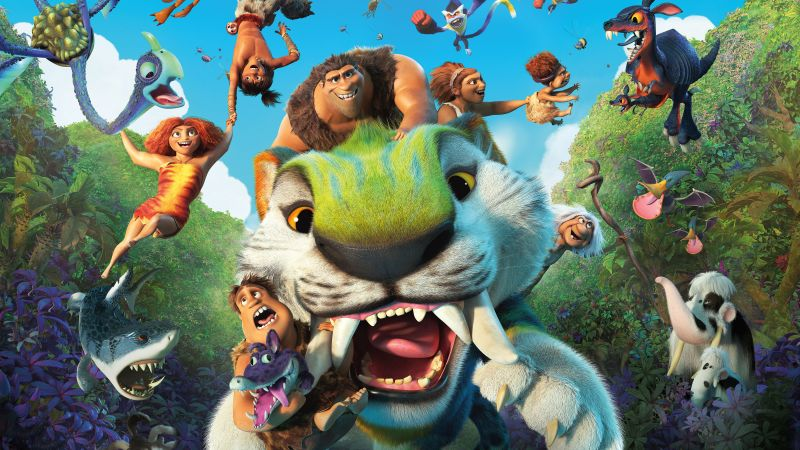 The Croods: A New Age, Animation, The Croods 2, DreamWorks Animation, 2020 Movies, Poster, 5K, Wallpaper