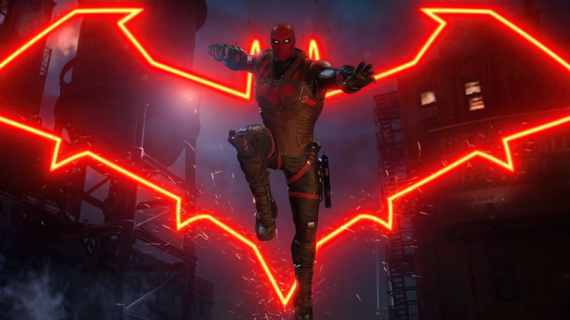 Red Hood, Gotham Knights, 2021 Games, PlayStation 5, PlayStation 4, Xbox Series X/S, Xbox One, PC Games, Wallpaper