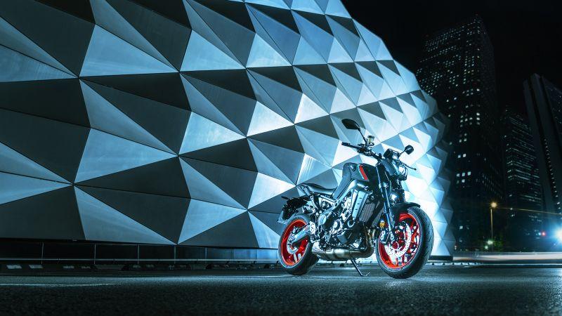 Yamaha MT-09, Naked bikes, 2021, 5K, Wallpaper