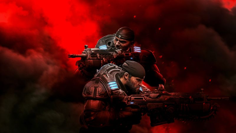 Gears 5, Marcus Fenix, PC Games, Xbox Series X and Series S, 2021 Games, Wallpaper