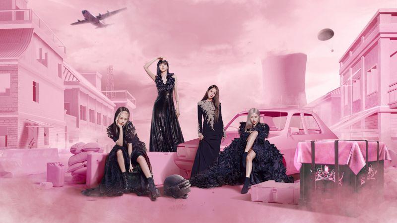 Blackpink, PUBG MOBILE, Pink background, Wallpaper