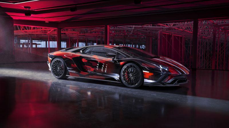 Lamborghini Aventador S, Yohji Yamamoto, 2021, 5K, 8K, Wallpaper