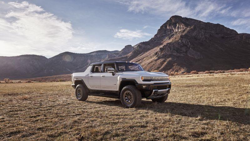 GMC Hummer EV, Edition 1, Electric SUV, Luxury SUV, Electric trucks, 2022, 5K, Wallpaper