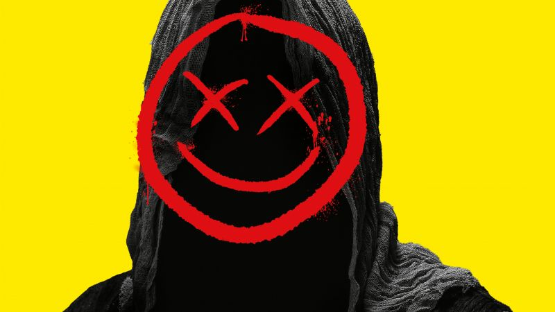 Smiley, Hoodie, Yellow background, Smiley Face Killers, Wallpaper