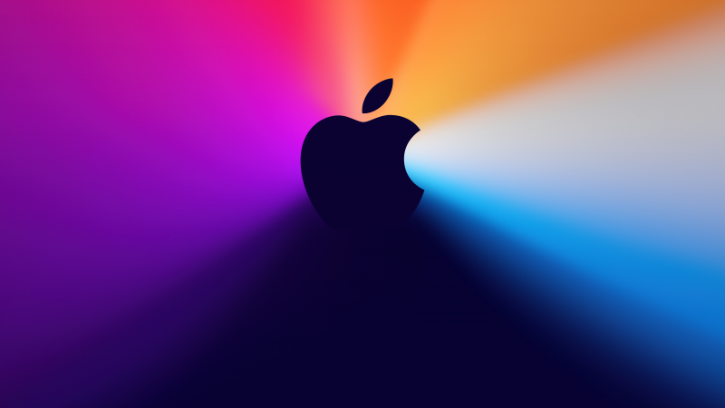 One more thing, Apple logo, Gradient background, Apple Event, Colorful, 5K, 8K, Wallpaper