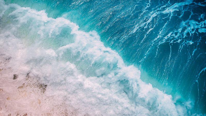 Ocean Waves, Aerial view, Ocean, Water, Drone photo, Wallpaper