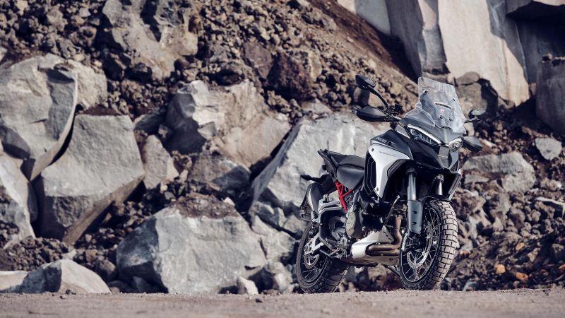 Ducati Multistrada V4 S, Adventure motorcycles, 2021, Wallpaper