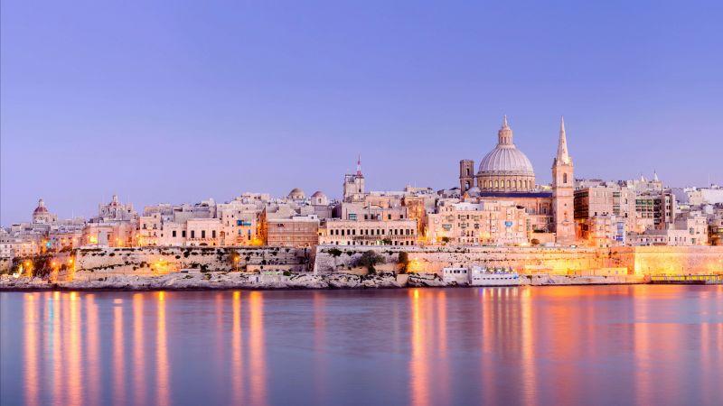 Valletta, Cityscape, Malta, Capital City, World Heritage Site, Ancient, Island, 5K, Wallpaper