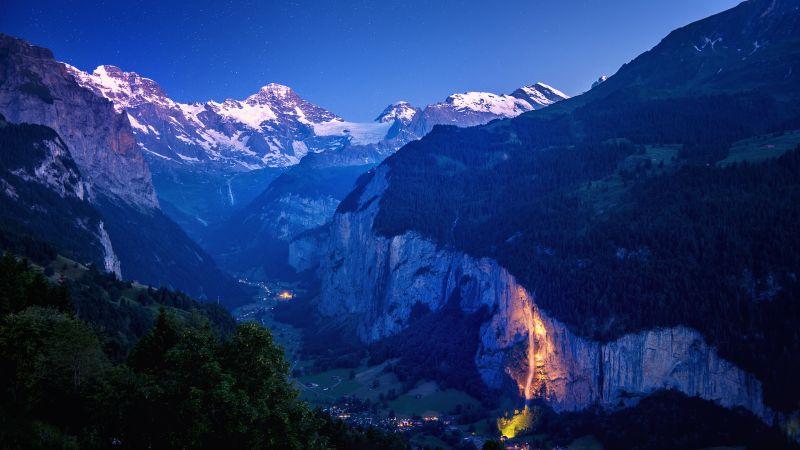 Lauterbrunnen, Valley, Rivendell, Mountains, Landscape, Wallpaper