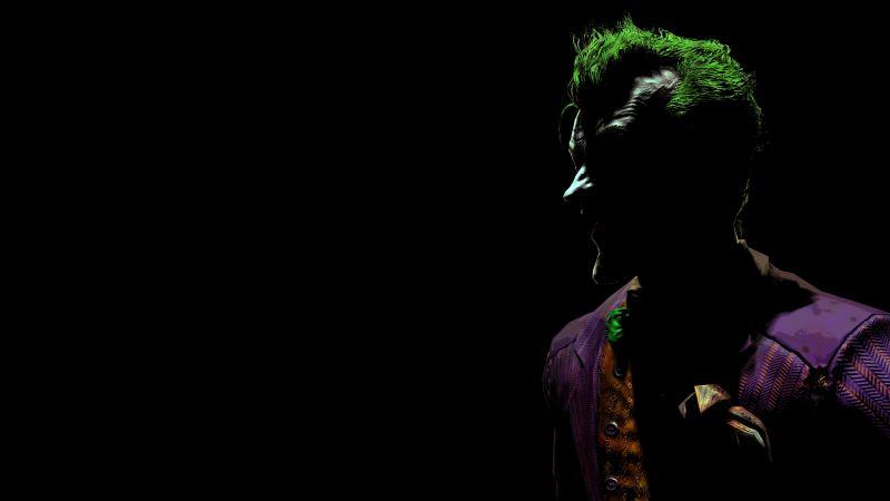 Joker, Batman: Arkham Asylum, Black background, Wallpaper