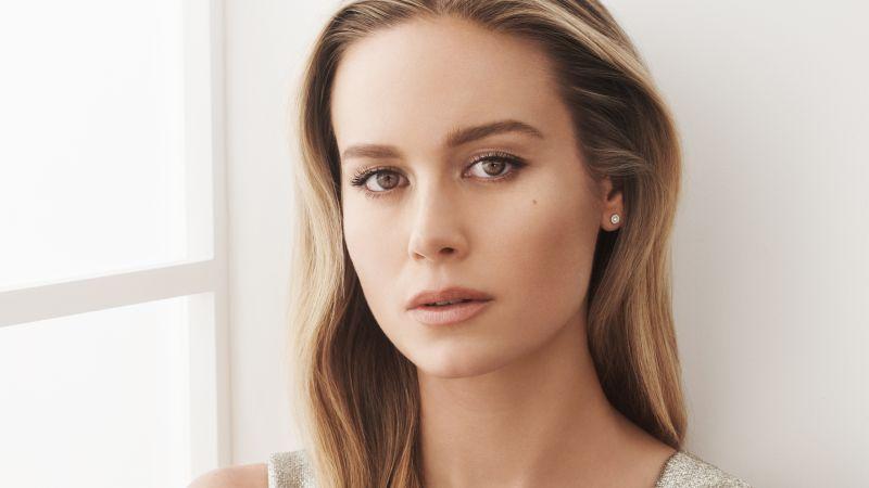 Brie Larson, American actress, Portrait, Wallpaper
