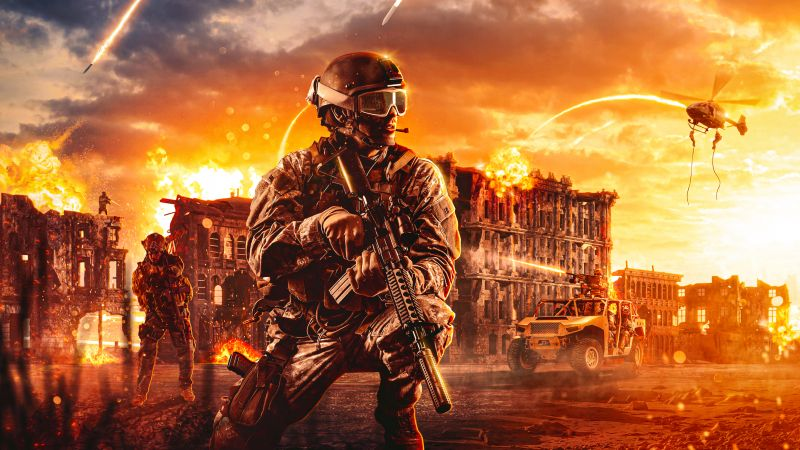 Call of Duty: Warzone, Soldier, PlayStation 4, Xbox One, PC Games, 2020 Games, Wallpaper