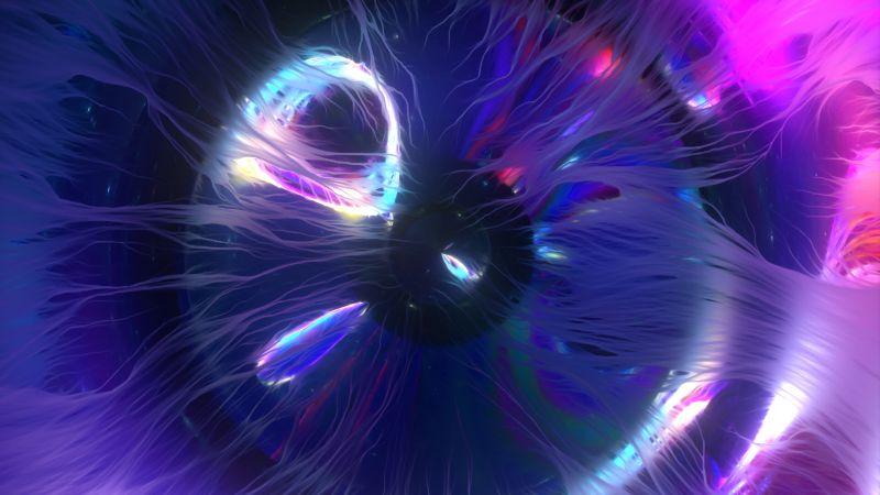 Eye, Bright, 3D, CGI, Blue, Purple, Spectrum, Glowing, Wallpaper