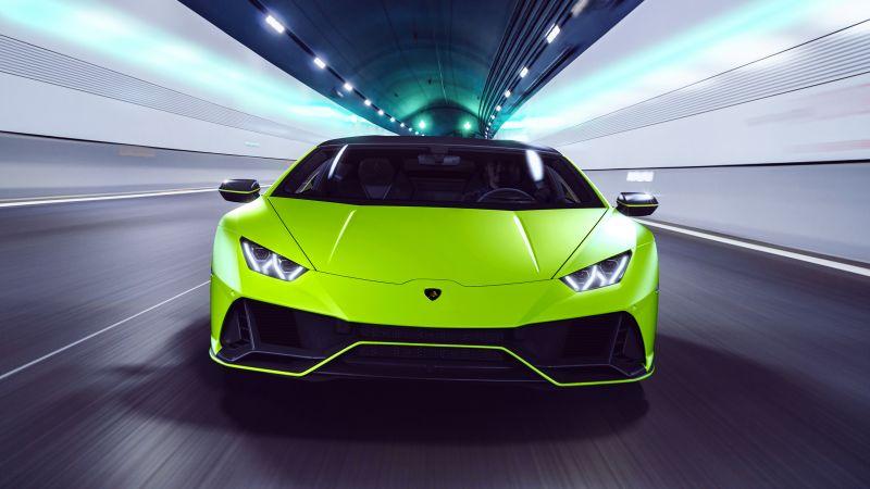 Lamborghini Huracan EVO Fluo Capsule, 2021, Wallpaper