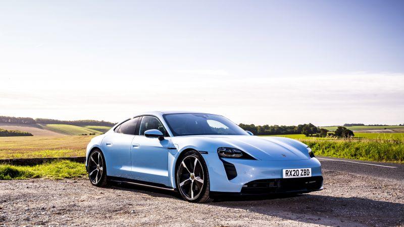 Porsche Taycan 4S, 5K, 2021, Wallpaper