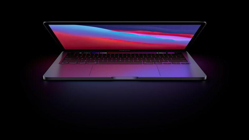 MacBook Pro, Apple Event, 2020, Dark background, Wallpaper