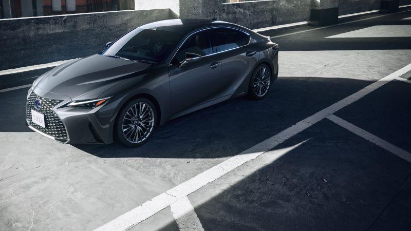 Lexus IS 300h, Hybrid sports car, 2021, 5K, Wallpaper