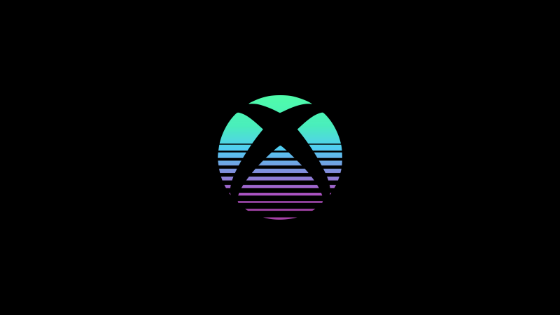 Xbox, Logo, Black background, AMOLED, Gradient, 5K, Wallpaper