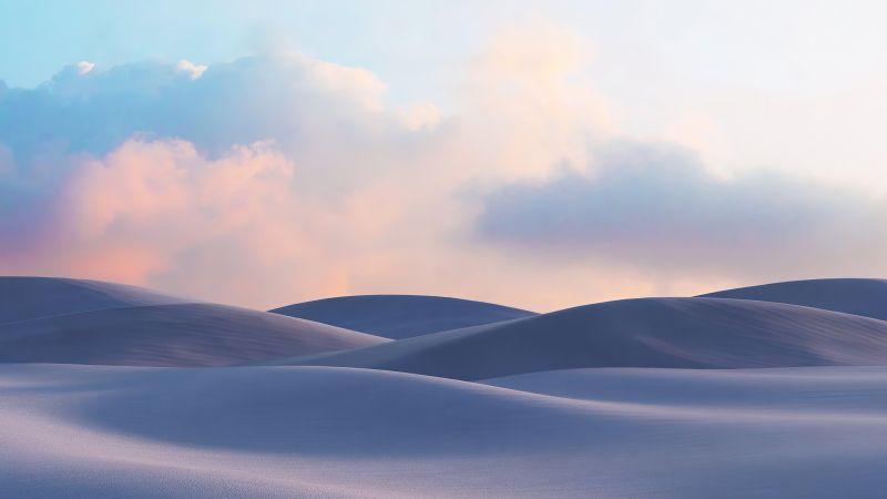 Sand Dunes, Desert, Landscape, Evening, Windows 10X, Microsoft Surface, Wallpaper