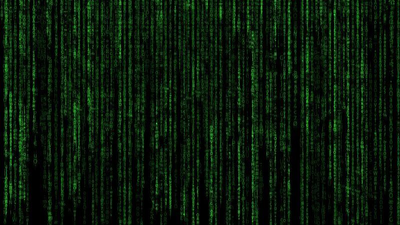 Matrix, Program, Falling, Data illustration, Green Code, Black background, Hacker, Random data, Vertical, Wallpaper