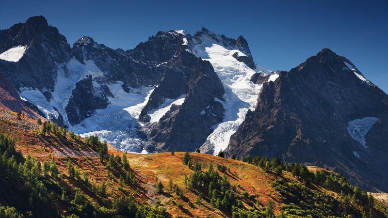 Meije, Mountains, Alps, Landscape, Wallpaper