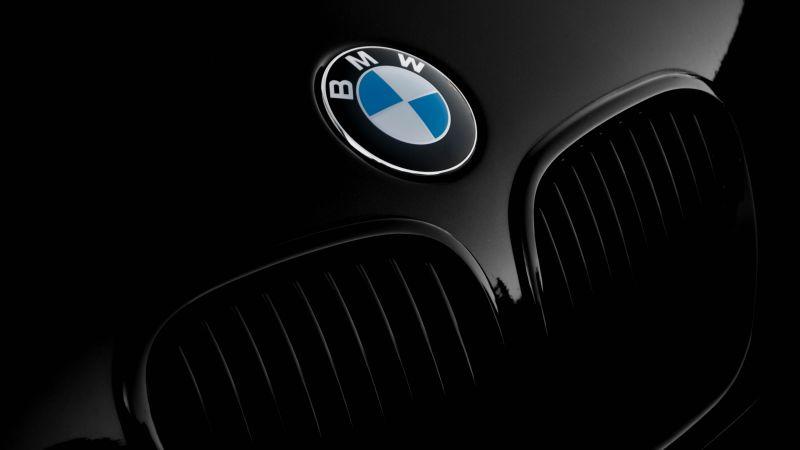 BMW Z3, BMW logo, Black cars, Black background, Front View, Convertible, Grill, Closeup, 5K, Wallpaper