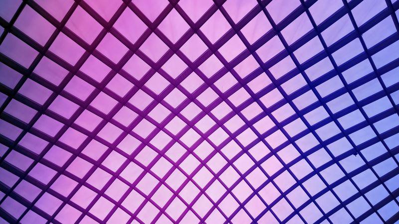 Mesh Illustration, Atrium, Purple background, Texture, National Portrait Gallery, Washington DC, Ceiling, Geometrical, Symmetrical, Wallpaper