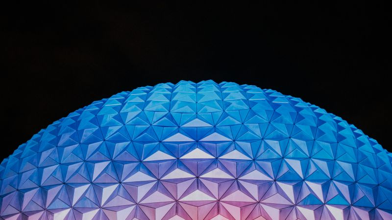 Spaceship Earth, Epcot, Walt Disney World, Modern architecture, 5K, Wallpaper