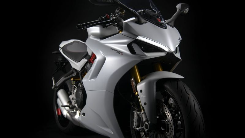 Ducati SuperSport 950, Sports bikes, Black background, 2021, 5K, 8K, Wallpaper