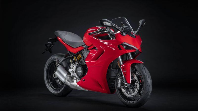 Ducati SuperSport 950, Sports bikes, Dark background, 2021, 5K, 8K, Wallpaper