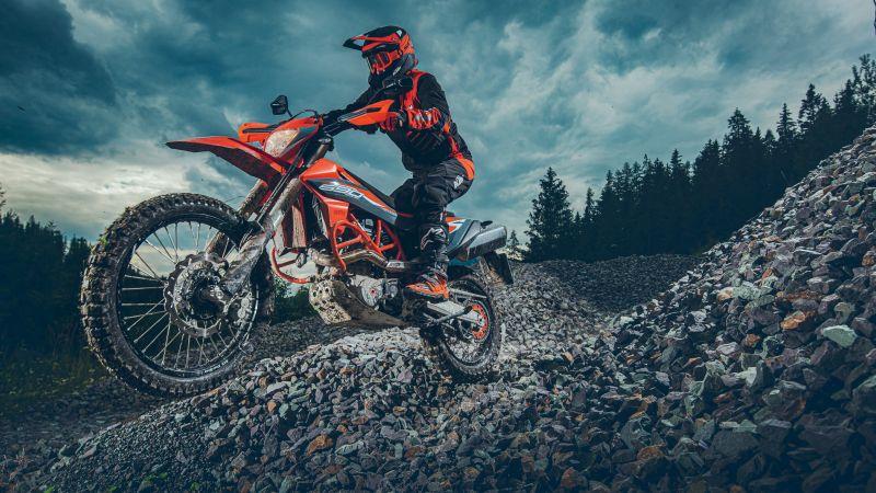 KTM 690 Enduro R, Adventure motorcycles, Off-roading, 2021, Wallpaper