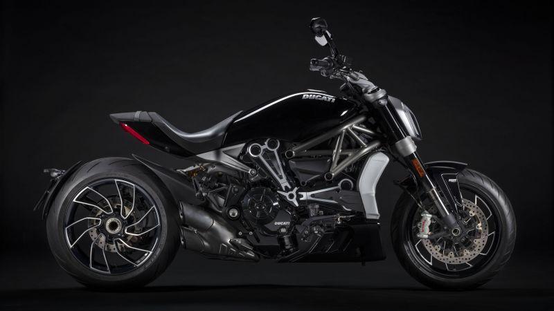 Ducati XDiavel S, Black bikes, Cruiser motorcycle, 2021, Dark background, 5K, Wallpaper