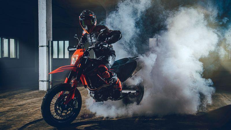 KTM 690 SMC R, Race bikes, Adventure motorcycles, 2021, Wallpaper