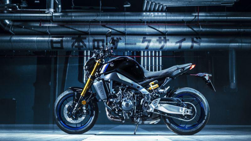 Yamaha MT-09, 2021, 5K, Wallpaper