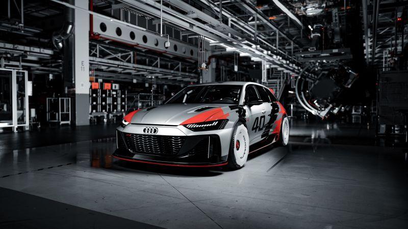 Audi RS6 GTO Concept, Race cars, Concept cars, 2021, 5K, Wallpaper
