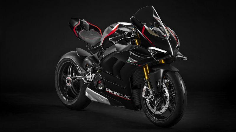 Ducati Panigale V4 SP, 2021, Dark background, 5K, 8K, Wallpaper